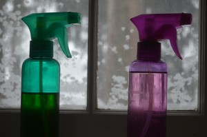 Spray bottles for oils
